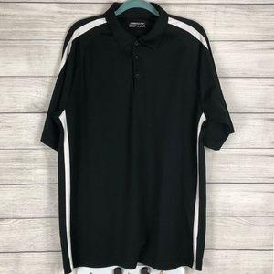 Nike Golf Fit Dry Black Polo Size XL (J)